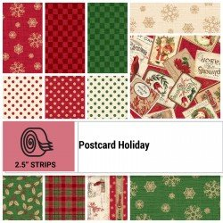 POHO-STRIPS - POSTCARD HOLIDAY 2.5 STRIP ROLLS BY P&B BOUTIQUE 40PCS - ARRIVING IN JULY 2021