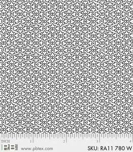 RA11-780 W - RAMBLINGS 11 BY P&B BOUTIQUE TINY LEAVES WHITE