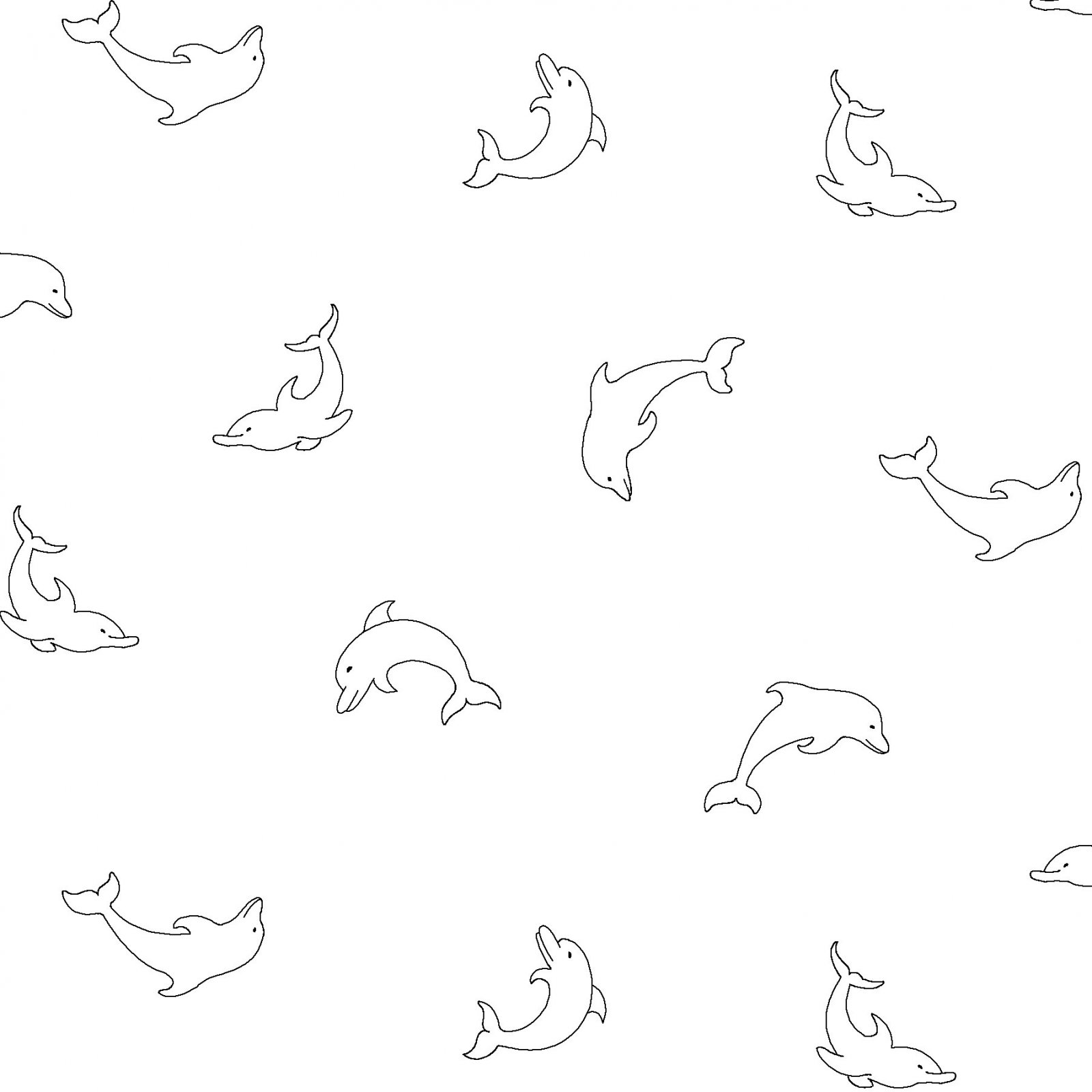 RAMF-4075 W - RAMBLINGS FUN BY P&B BOUTIQUE DOLPHINES WHITE