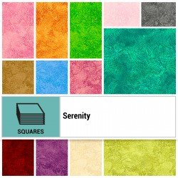 SERE-10X10 - SERENITY 10 SQUARES BY P&B BOUTIQUE 42PCS - ARRIVING IN JULY 2021