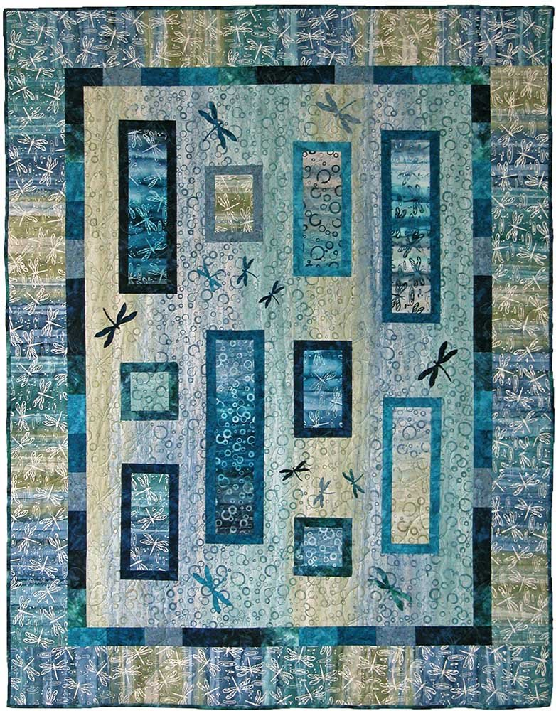 SHAN-122 - ILLUSIONS QUILT PATTERN BY SHANIA SUNGA DESIGNS
