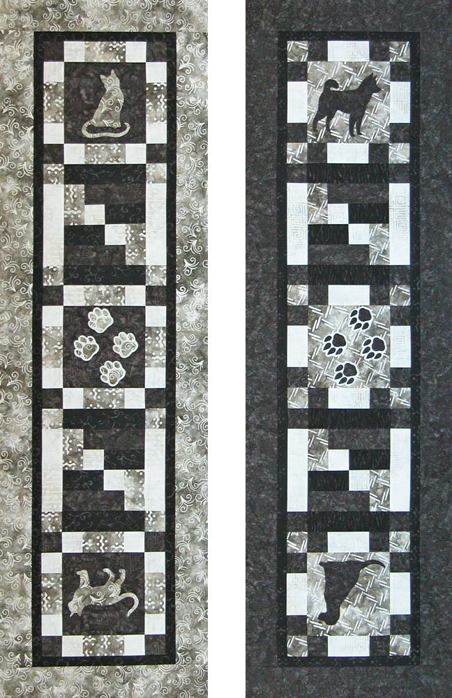 SHAN-123 - CAT & DOG LOVERS TABLE RUNNER BY SHANIA SUNGA DESIGNS