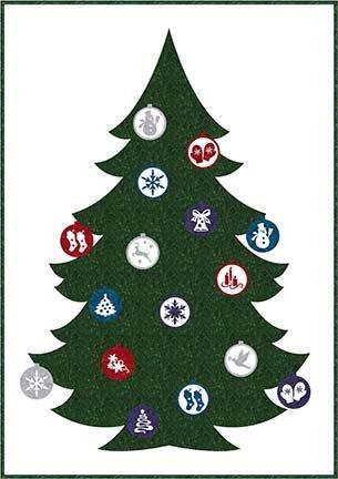 SHAN-147 G - IT'S CHRISTMAS PATTERN BY SHANIA W/H GREEN XMAS TREE 42x60