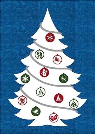 SHAN-147 W - IT'S CHRISTMAS PATTERN BY SHANIA W/H WHITE XMAS TREE 42X60