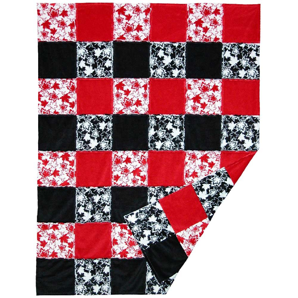 SHAN-FP006 - CANADA RAG QUILT BY SHANIA SUNGA 49X65 FREE PATTERN RED/BL