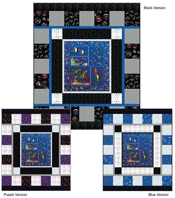 SHAN-FP011 - UNDER THE SEA QUILTS BY SHANIA SUNGA 85 X 101 FREE PATTERN