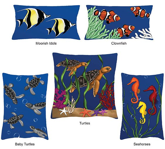 SHAN-FP014 - UNDER THE SEA PANEL PILLOWS BY SHANIA SUNGA FREE PATTERN