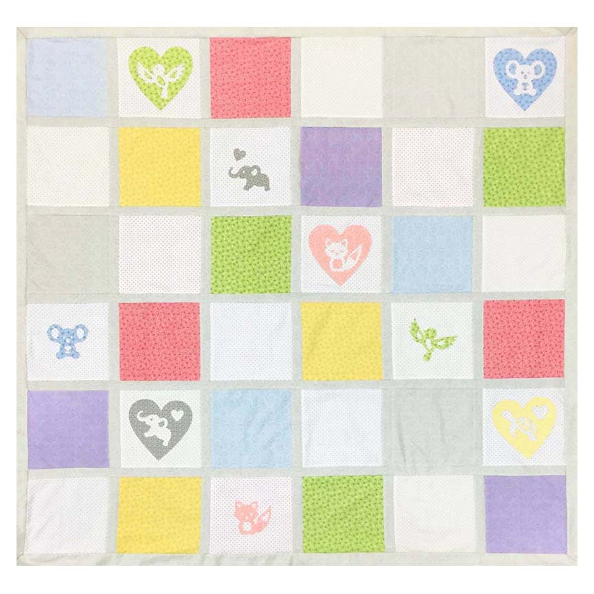 SHAN-FP016 - LITTLE CRITTERS QUILT FREE PATTERN BY SHANIA SUNGA 56 X 56