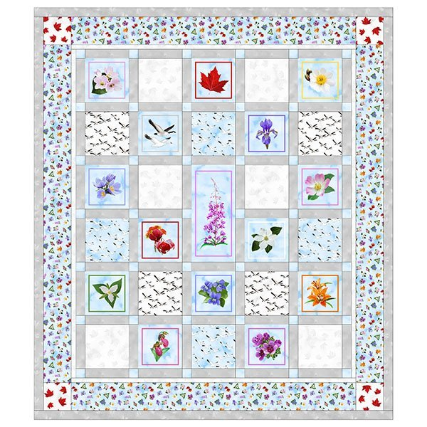 SHAN-FP020 - GLORIOUS & FREE QUILT PATTERN BY SHANIA SUNGA FREE PATTERN 77X89