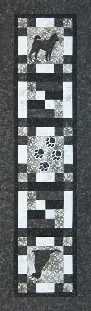SHAN-K123 D - CAT&DOG LOVERS DOG TABLE RUNNER KIT BY SHANIA SUNGA DESIGN
