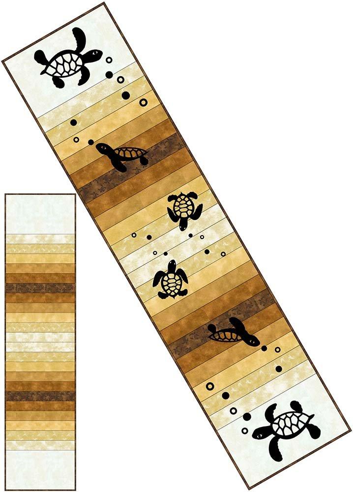 SHAN-KSSS03 BRN - MIRROR TABLE RUNNER KIT BY SHANIA SUNGA BROWN 60 x 14