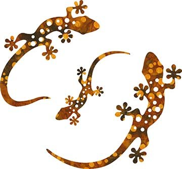SHAN-LC001 06 - GECKO LASER CUTS BY SHANIA SUNGA 5&6.5&8/PKG RUST BROWN