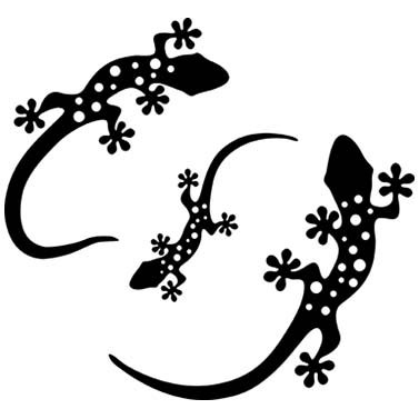 GECKO LASER CUT APPLIQUES BY SHANIA SUNGA 3 SIZES/PKG 5, 6.5 & 8