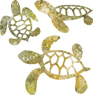 SHAN-LC005 05 - TURTLE LASER CUTS BY SHANIA SUNGA 5&6.5&8/PKG BROWN GREEN GREY