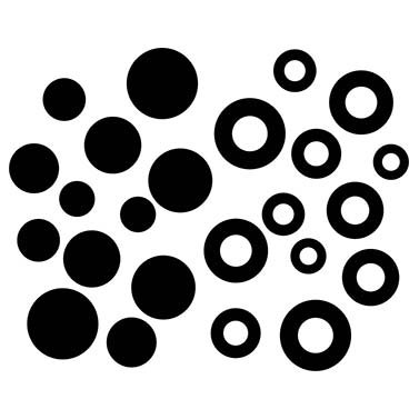 BUBBLES LASER CUT APPLIQUES BY SHANIA SUNGA 36/PKG 0.5-1