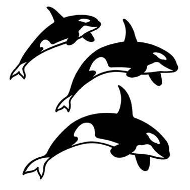 ORCA LASER CUT APPLIQUES BY SHANIA SUNGA 3 SIZES/PKG 5, 6.5 & 8