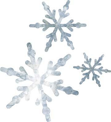 SHAN-LC011 05 - SNOWFLAKE LASER CUTS BY SHANIA SUNGA 3&5&6/PKG GREY WHITE