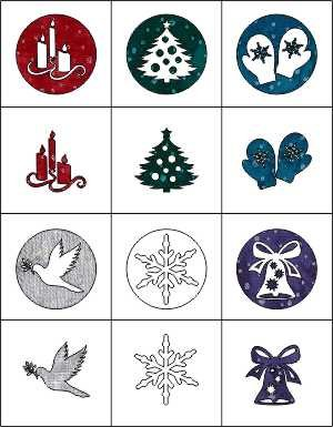 SHAN-LC015 MU1 - CHRISTMAS ORNAMENTS DESIGNS LASER CUTS BY SHANIA 12PK MULTI