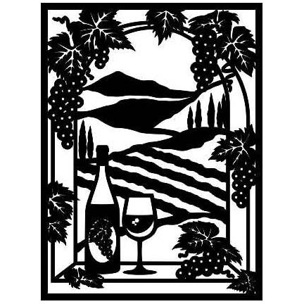 WINE COUNTRY LASER CUT APPLIQUES BY SHANIA SUNGA 1/PKG 17.5X23.5