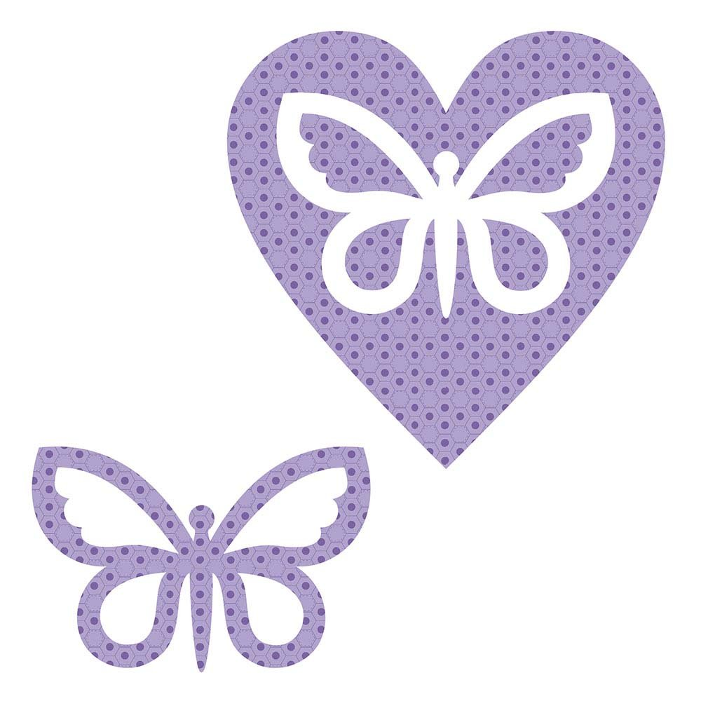 SHAN-LC023 01 - BUTTERFLY&HEART LASER CUTS BY SHANIA SUNGA 6.25X6.25 FLANNEL PUR