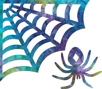 SHAN-LC033 01 - SPOOKY LASER CUT BY SHANIA SUNGA 8X7 BLUE PURPLE TEAL GREEN