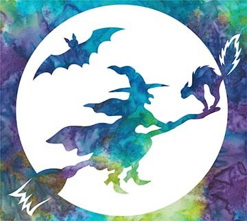 SHAN-LC034 01 - THE WITCHING HOUR LASER CUT BY SHANIA SUNGA 8.75X7.75 BLUE PURPLE TEAL GREEN