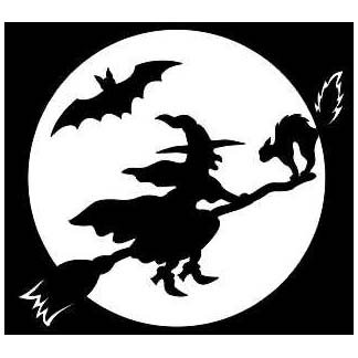 THE WITCHING HOUR LASER CUT APPLIQUES BY SHANIA SUNGA 1/PKG 8.75X7.75