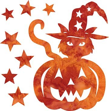 SHAN-LC035 02 - TRICK OR TREAT LASER CUT BY SHANIA SUNGA 7X8.75 ORANGE RED