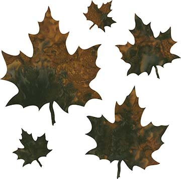 SHAN-LC036 03 - MAPLE LEAVES LASER CUT BY SHANIA SUNGA 2 to 7 BROWN BLACK