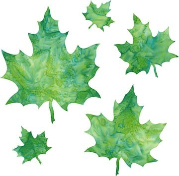 SHAN-LC036 04 - MAPLE LEAVES LASER CUT BY SHANIA SUNGA 2 to 7 GREEN