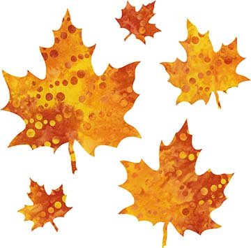 SHAN-LC036 06 - MAPLE LEAVES LASER CUT BY SHANIA SUNGA 2 to 7 RED ORANGE YELLOW