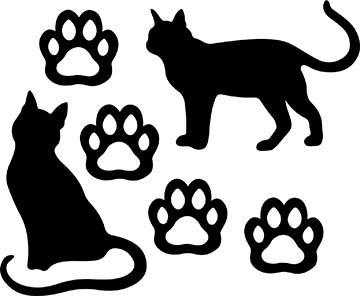 SHAN-LC037 - CAT LOVERS LASER CUT BY SHANIA SUNGA 9X16 BLACK