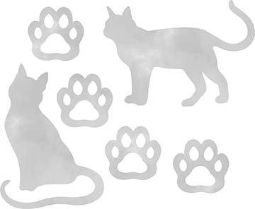 SHAN-LC037 01 - CAT LOVERS LASER CUT BY SHANIA SUNGA 9X16 GREY DIGITAL COTTON