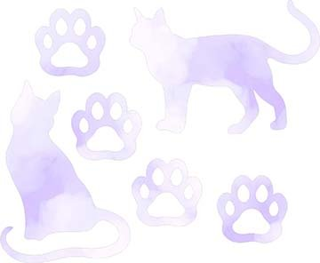 SHAN-LC037 02 - CAT LOVERS LASER CUT BY SHANIA SUNGA 9X16 PURPLE WHITE DIGITAL COTTON