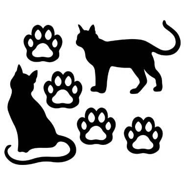 CAT LOVERS LASER CUT APPLIQUES BY SHANIA SUNGA 1/PKG 9X16