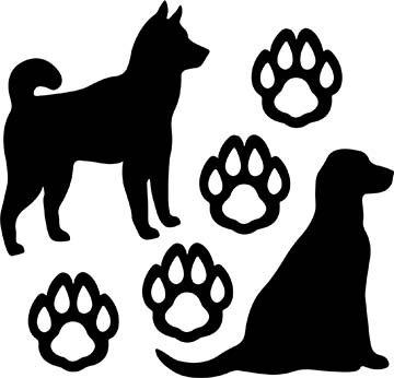 SHAN-LC038 - DOG LOVERS LASER CUT BY SHANIA SUNGA 9X16 BLACK BATIK