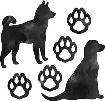 SHAN-LC038 01 - DOG LOVERS DIGITAL COTTON LASER CUT BY SHANIA SUNGA 9X16 GREY