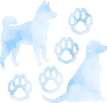 SHAN-LC038 02 - DOG LOVERS LASER CUT BY SHANIA SUNGA 9X16 BLUE WHITE DIGITAL COTTON
