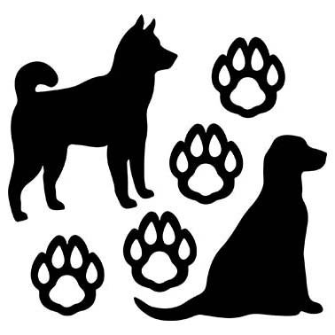 DOG LOVERS LASER CUT APPLIQUES BY SHANIA SUNGA 1/PKG 9X16