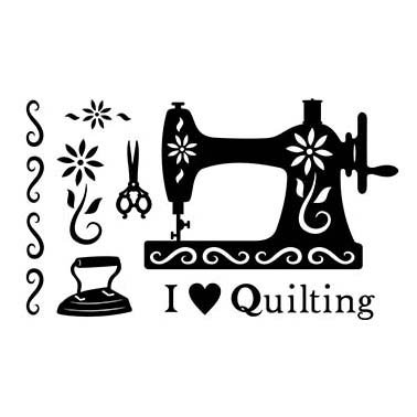 I LOVE QUILTING LASER CUT APPLIQUES BY SHANIA SUNGA 1/PKG 11.75X17.75