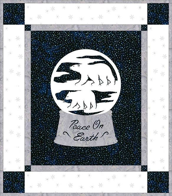 SHAN-NKSSS11 C MN - HOLIDAY WISHES - NAVY/WHITE PRE-CUT KIT BY SHANIA SUNGA 14 x 16