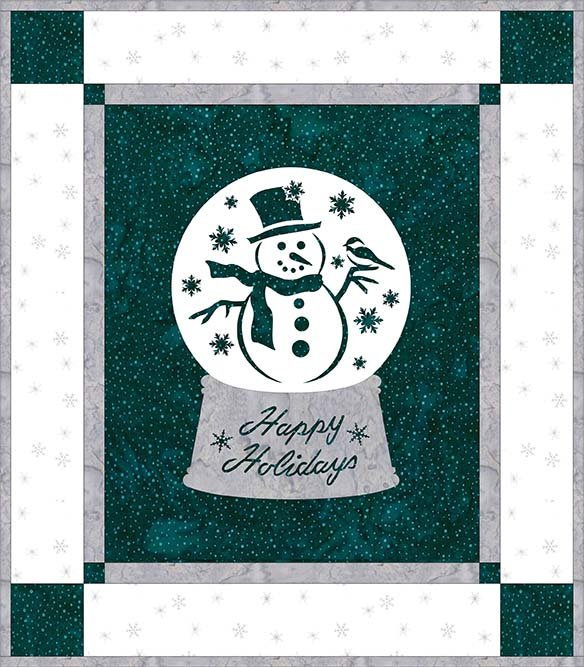 SHAN-NKSSS11 C MT - HOLIDAY WISHES - TURQUOISE/WHITE PRE-CUT KIT BY SHANIA SUNGA 14 x 16
