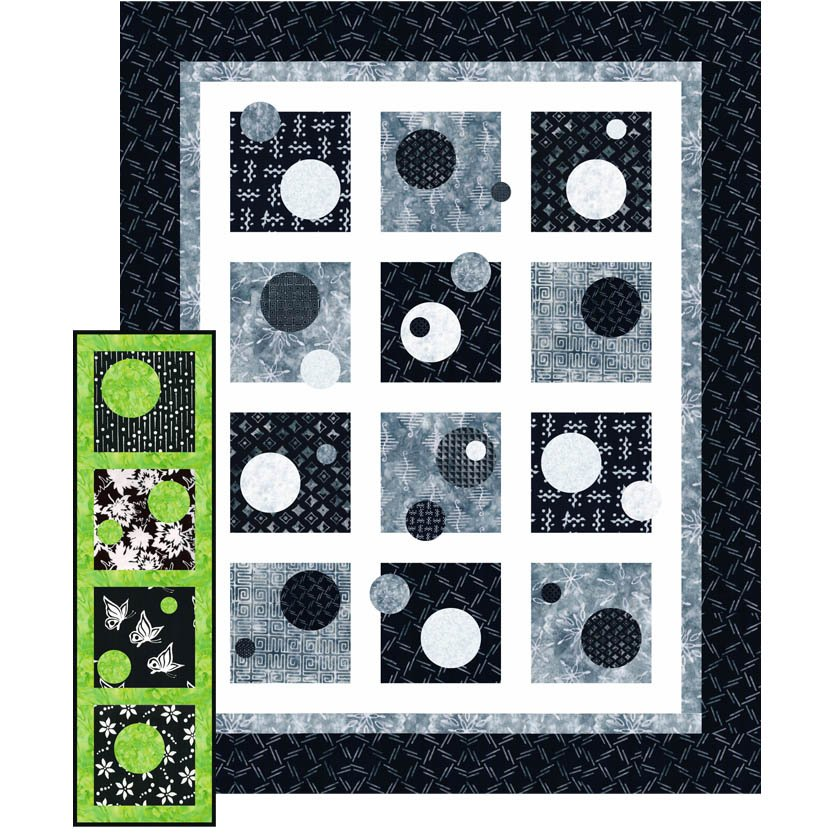 SHAN-SK131 LAP - ABSTRACTION LAP QUILT SHOP KIT BY SHANIA SUNGA 64 x 79