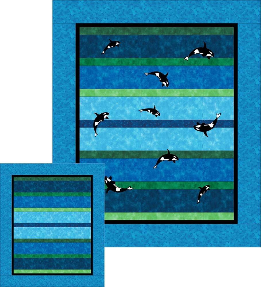 SHAN-SSS01 BLGN - HORIZONS PATTERN BY SHANIA SUNGA BLUE GREEN 54X64