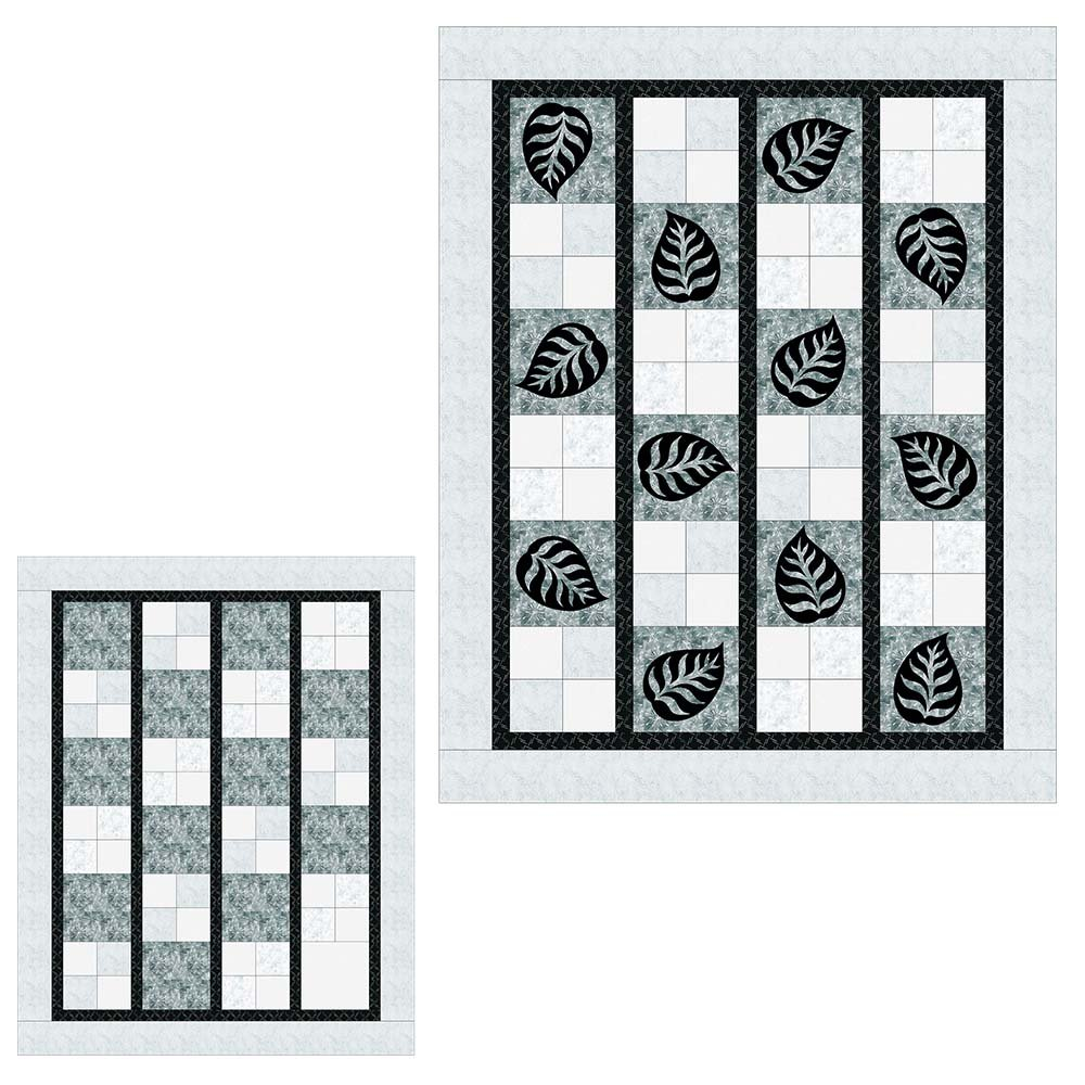 SHAN-SSS06 LTGY - CHECKERS PATTERN BY SHANIA SUNGA  LEAVES LTGRY WHIBLK53X66.5