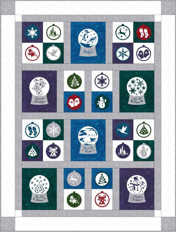 SHAN-SSS10 C WGY - COMPOSITION XMAS PATTERN BY SHANIA SUNGA WHI/GRY 50X66