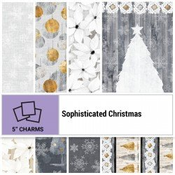SOPC-005X5 - SOPHISTICATED CHRISTMAS 5 SQUARES BY P&B BOUTIQUE 42PCS - ARRIVING IN JUNE 2021