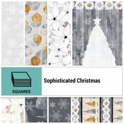 SOPC-10X10 - SOPHISTICATED CHRISTMAS 10 SQUARES BY P&B BOUTIQUE 42PCS - ARRIVING IN JUNE 2021