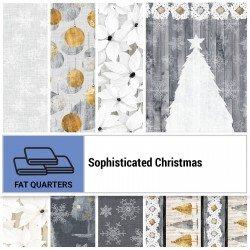 SOPC-18X22 - SOPHISTICATED CHRISTMAS FAT QUARTER BUNDLE BY P&B BOUTIQUE 7PCS+1PNL - ARRIVING IN JUNE 2021