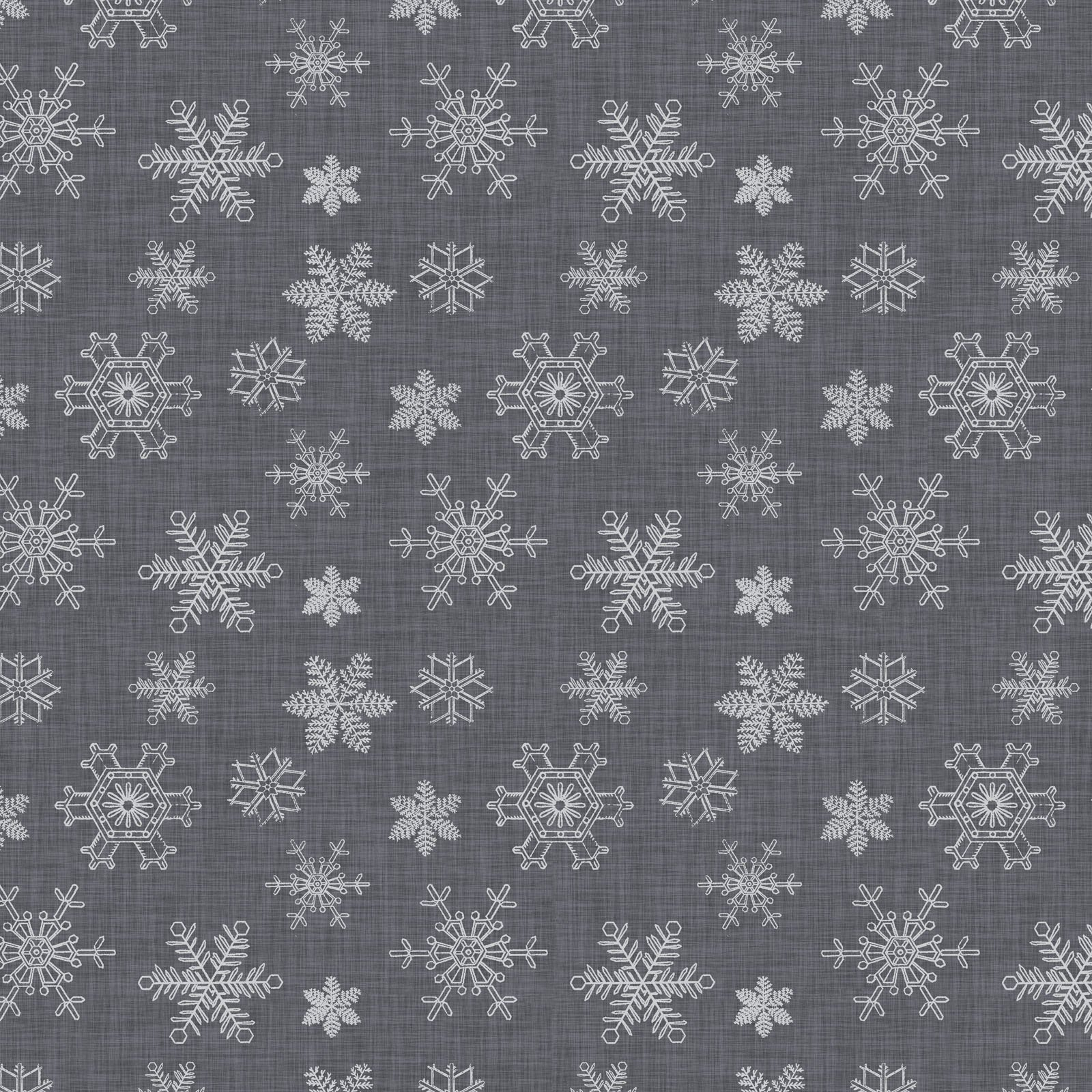 SOPC-4418 S- SOPHISTICATED CHRISTMAS BY GRACE POPP ALL OVER SNOWFLAKE SILVER - ARRIVING IN MAY 2021